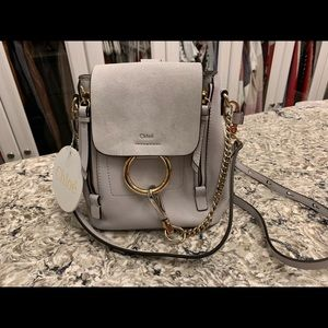 Chloe mini backpack. Light Gray
